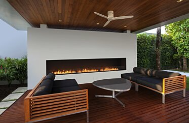 Flex 158SS Single Sided Fireplace by EcoSmart Fire - Outdoor Spaces