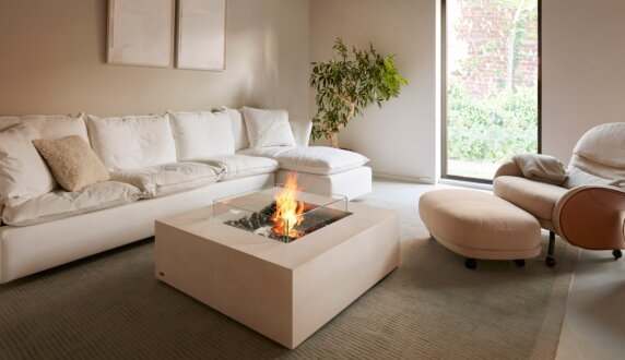 Private Residence - Base Fire Pit Table by EcoSmart Fire