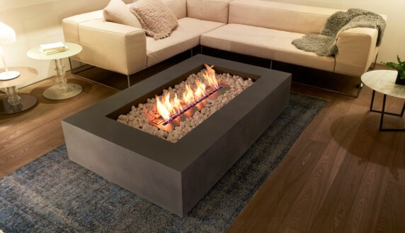 Private Residence - Wharf Fire Pit Table by EcoSmart Fire