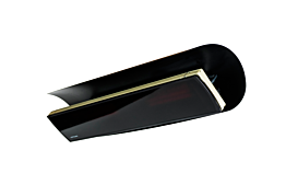 Weathershield 5 Black HEATSCOPE® Accessorie - Studio Image by Heatscope