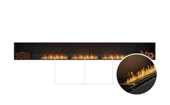 Flex 158SS.BX2 Single Sided - Ethanol - Black / Black / Installed View by EcoSmart Fire