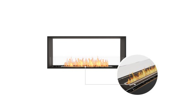 Flex 50DB Double Sided - Ethanol - Black / Black / Installed View by EcoSmart Fire
