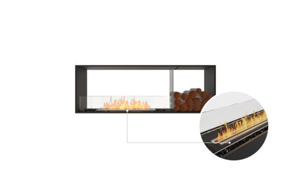 Flex 60DB.BX1 Double Sided - Ethanol - Black / Black / Installed View by EcoSmart Fire