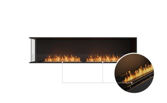 Flex 86LC Left Corner - Ethanol - Black / Black / Installed View by EcoSmart Fire