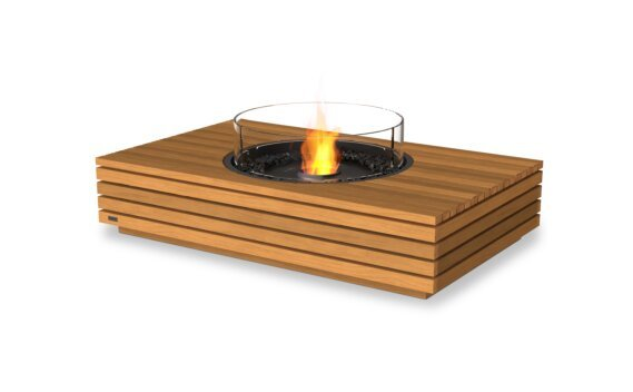 Martini 50 Range - Ethanol - Black / Teak / Optional Fire Screen by EcoSmart Fire