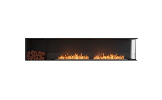 Flex 104RC.BXL Right Corner - Ethanol / Black / Installed View by EcoSmart Fire