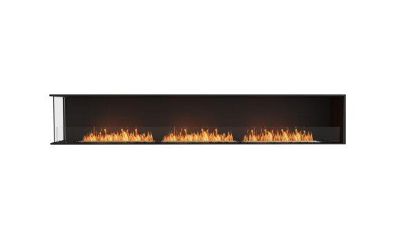 Flex 122LC Left Corner - Ethanol / Black / Installed View by EcoSmart Fire