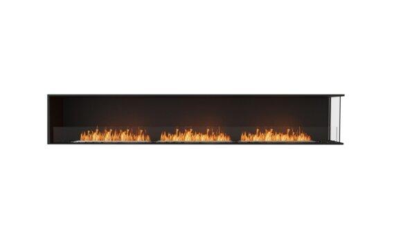 Flex 122RC Right Corner - Ethanol / Black / Installed View by EcoSmart Fire
