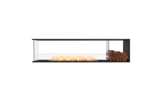 Flex 86PN.BXR Peninsula - Ethanol / Black / Installed View by EcoSmart Fire