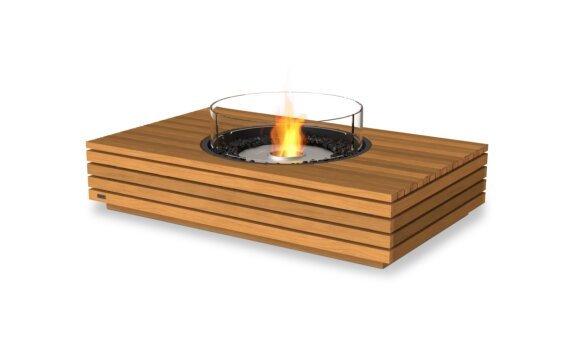 Martini 50 Range - Ethanol / Teak / Optional Fire Screen by EcoSmart Fire