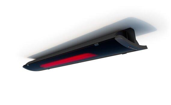Pure 2400W Radiant Heater - Black / Black - Flame On by Heatscope