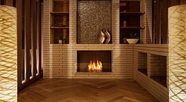Firebox 800SS v2 Fireplace Inserts Outlet - In-Situ Image by EcoSmart Fire