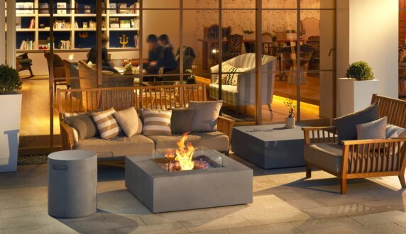 Commercial Space - Base Fire Pit Table by EcoSmart Fire