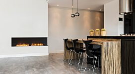 Flex 122RC.BXL Right Corner - In-Situ Image by EcoSmart Fire