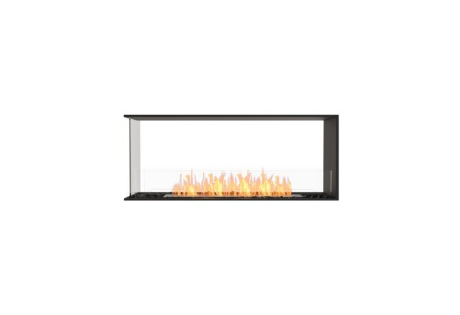 Flex 50PN Peninsula - Ethanol / Black / Installed View by EcoSmart Fire