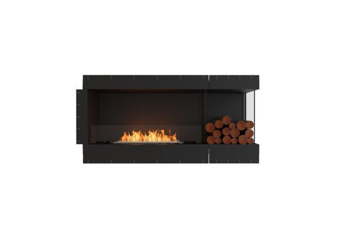 Flex 60RC.BXR Right Corner - Ethanol / Black / Uninstalled View by EcoSmart Fire