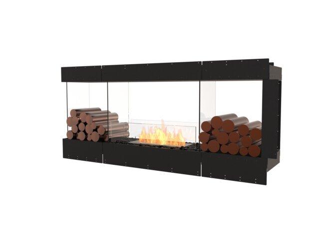 Flex 68PN.BX2 Peninsula - Ethanol / Black / Uninstalled View by EcoSmart Fire