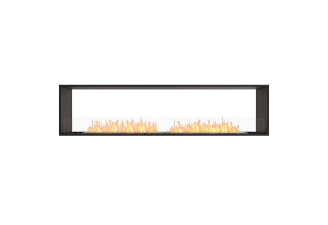 Flex 86DB Double Sided - Ethanol / Black / Installed View by EcoSmart Fire