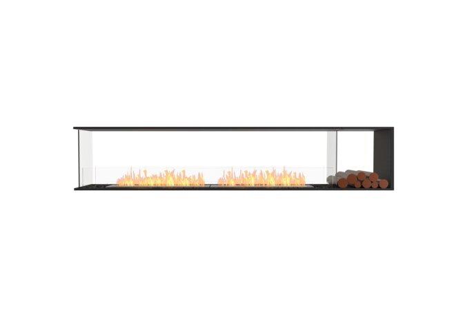 Flex 104PN.BXR Peninsula - Ethanol / Black / Installed View by EcoSmart Fire