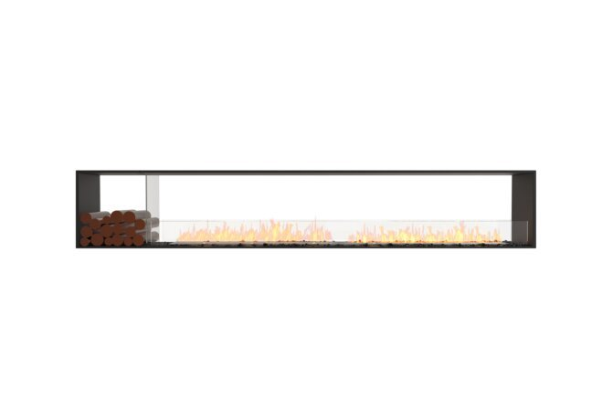 Flex 122DB.BX1 Double Sided - Ethanol / Black / Installed View by EcoSmart Fire