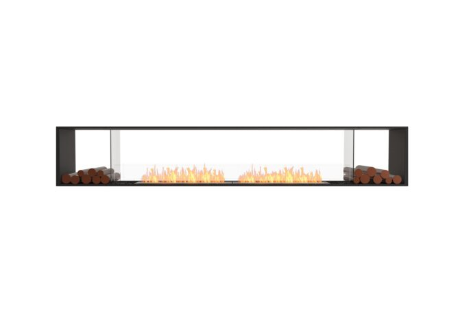 Flex 122DB.BX2 Double Sided - Ethanol / Black / Installed View by EcoSmart Fire