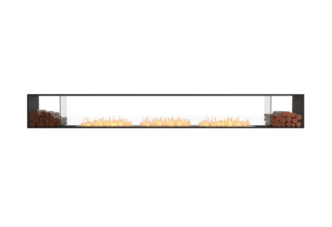 Flex 158DB.BX2 Double Sided - Ethanol / Black / Installed View by EcoSmart Fire