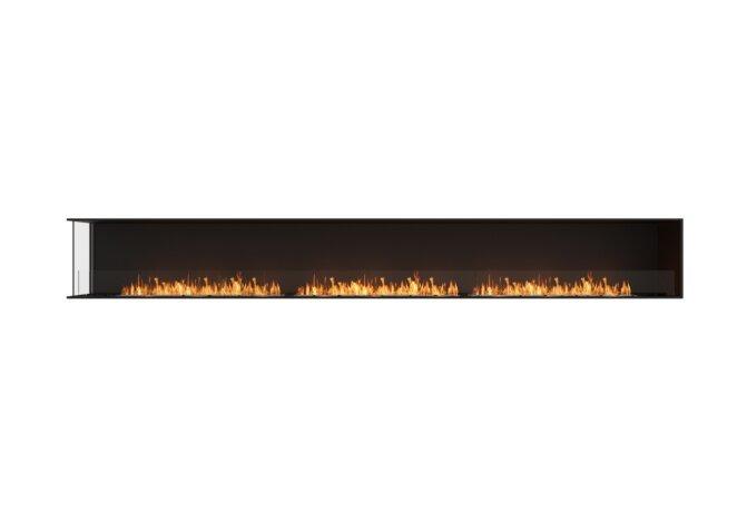 Flex 158LC Left Corner - Ethanol / Black / Installed View by EcoSmart Fire