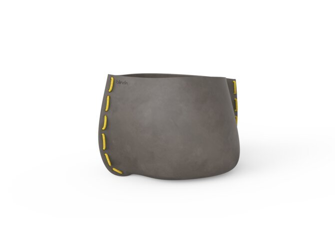 Stitch 75 Planter - Natural / Yellow by Blinde Design