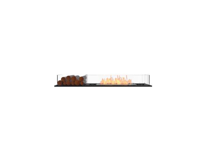 Flex 60BN.BX1 Bench - Ethanol / Black / Installed View by EcoSmart Fire