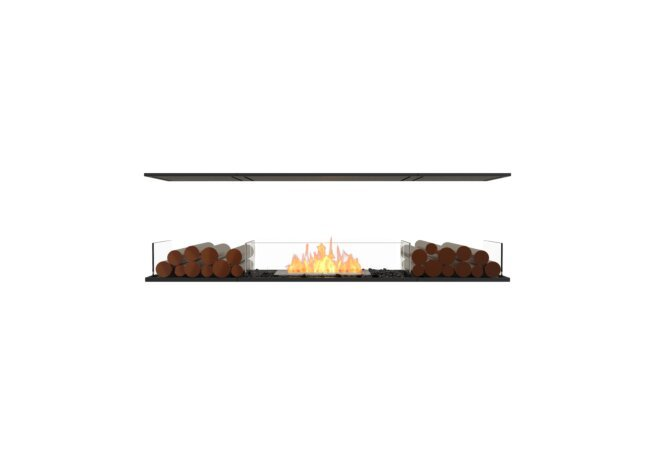 Flex 68IL.BX2 Island - Ethanol / Black / Installed View by EcoSmart Fire
