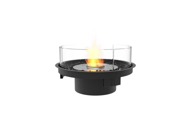 Round 20 Fireplace Insert - Ethanol / Black / Indoor Safety Tray by EcoSmart Fire