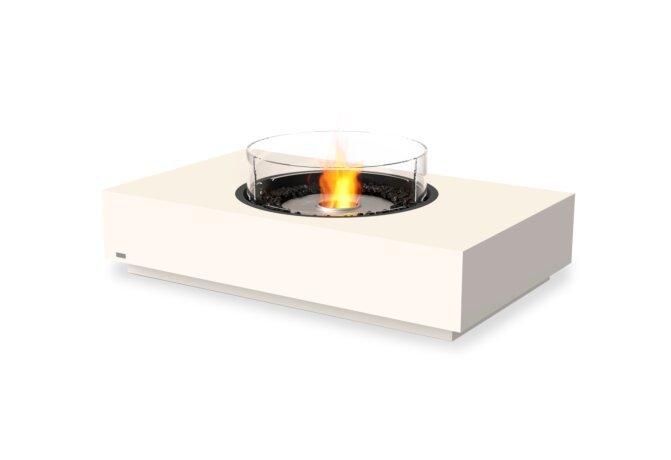 Martini 50 Fire Pit - Ethanol / Bone / Optional Fire Screen by EcoSmart Fire