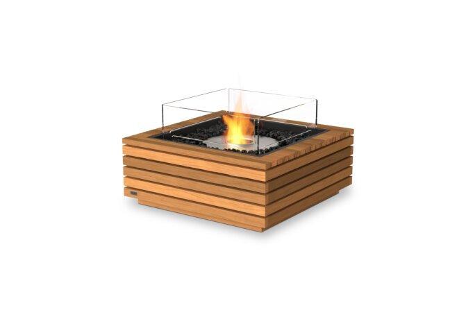 Base 30 Fire Pit - Ethanol / Teak / Optional Fire Screen by EcoSmart Fire