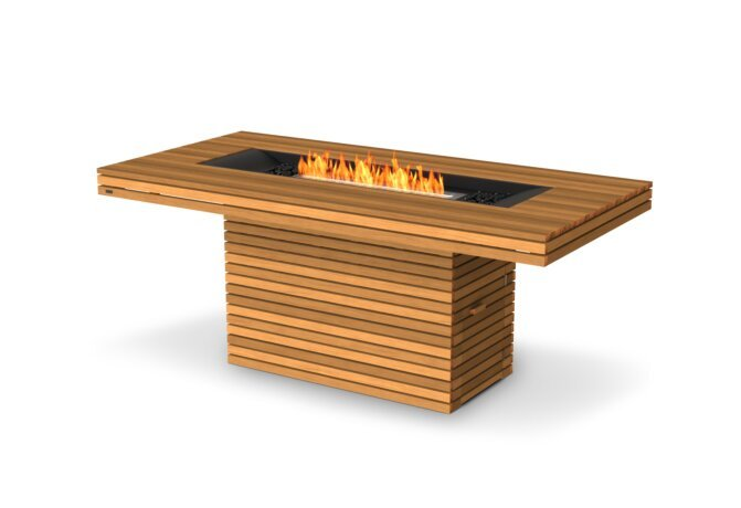 Gin 90 (Bar) Fire Pit - Ethanol / Teak by EcoSmart Fire