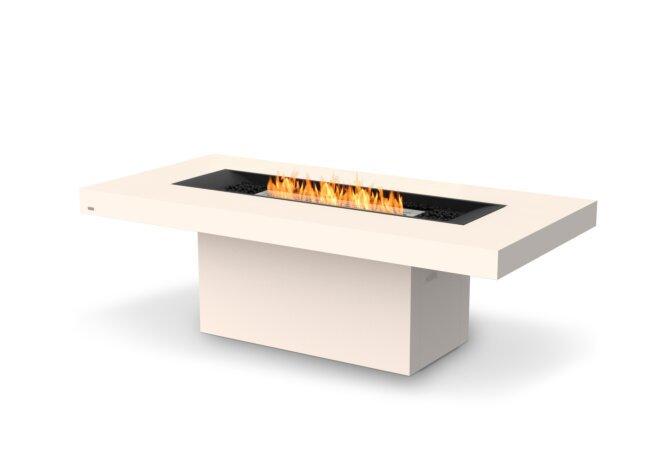 Gin 90 (Dining) Fire Pit - Ethanol / Bone / Optional Fire Screen by EcoSmart Fire
