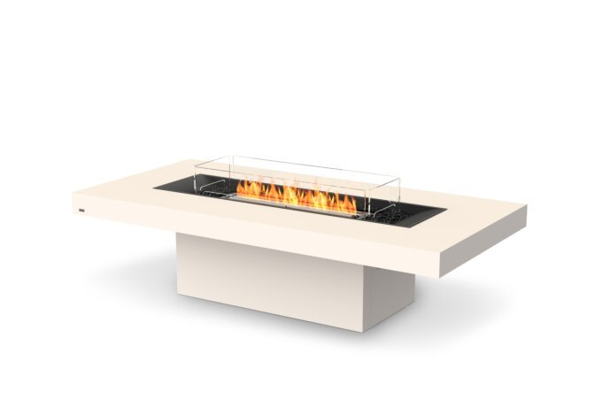 Gin 90 (Chat) Fire Pit - Ethanol - Black / Bone / Optional Fire Screen by EcoSmart Fire