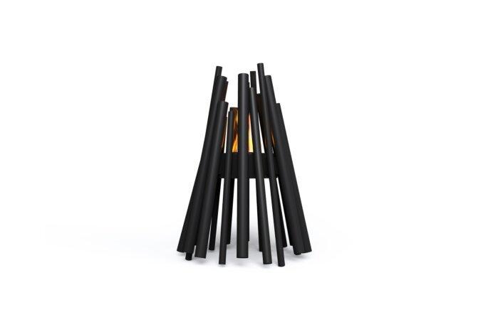 Stix Fire Pit - Ethanol - Black / Black by EcoSmart Fire