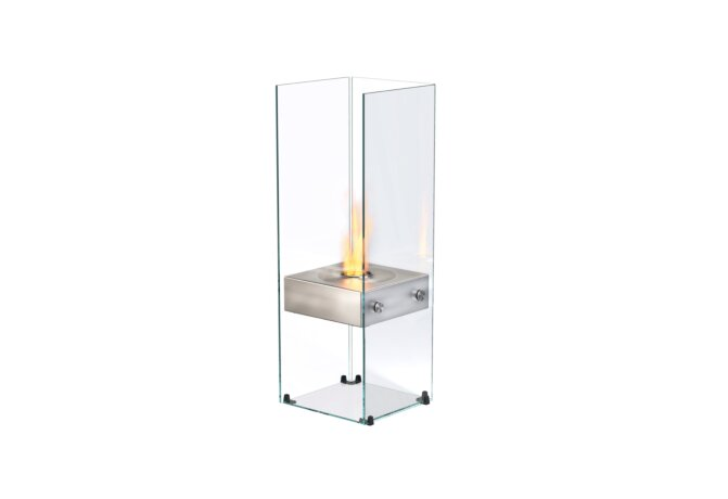 Ghost Designer Fireplace - Ethanol / Stainless Steel / Optional Log Set by EcoSmart Fire