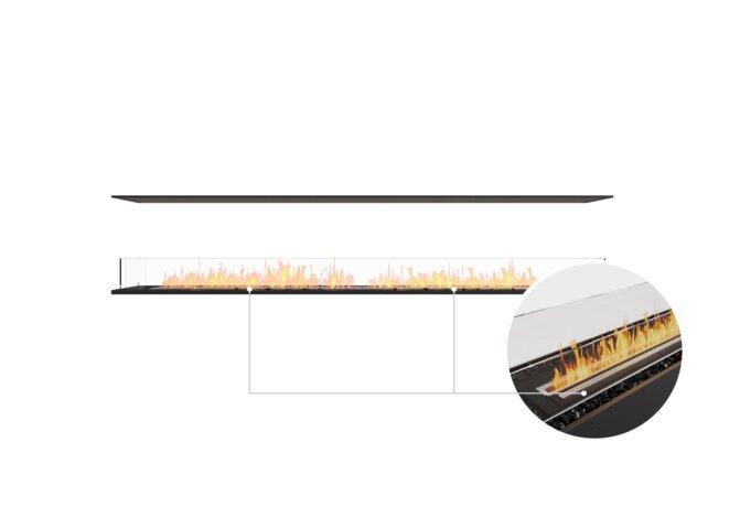 Flex 104IL Island - Ethanol - Black / Black / Installed View by EcoSmart Fire