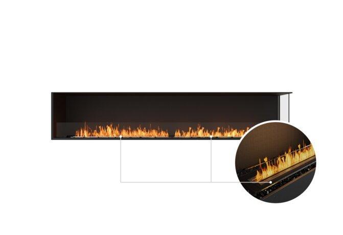 Flex 104RC Right Corner - Ethanol - Black / Black / Installed View by EcoSmart Fire