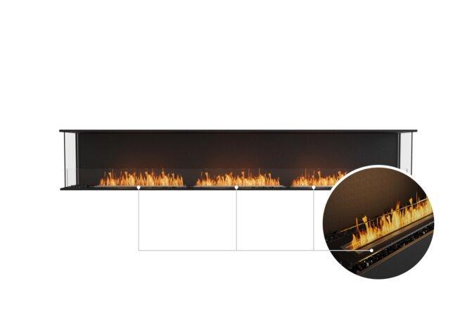 Flex 122 - Ethanol - Black / Black / Installed View by EcoSmart Fire
