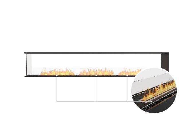 Flex 122PN Peninsula - Ethanol - Black / Black / Installed View by EcoSmart Fire