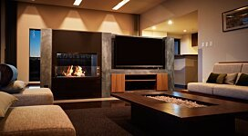 Firebox 800DB v1 EcoSmart Fire Outlet - In-Situ Image by MAD Design Group