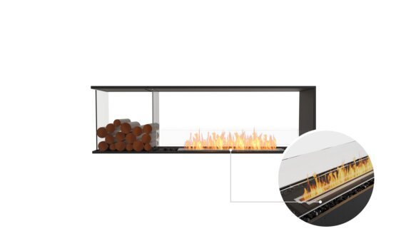 Flex 68PN.BXL Peninsula - Ethanol - Black / Black / Installed View by EcoSmart Fire