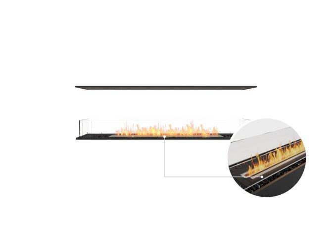 Flex 68IL Island - Ethanol - Black / Black / Installation View by EcoSmart Fire